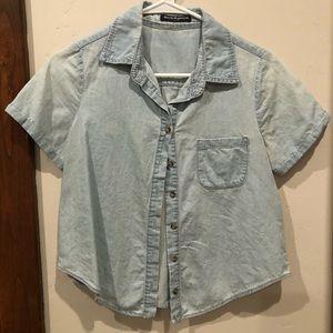 Brandy Melville light denim shirt